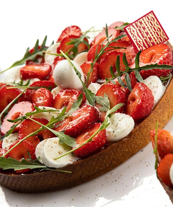 recette tarte aux fraises tomates mozzarella